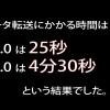 USB3.0とUSB2.0の転送速度の比較