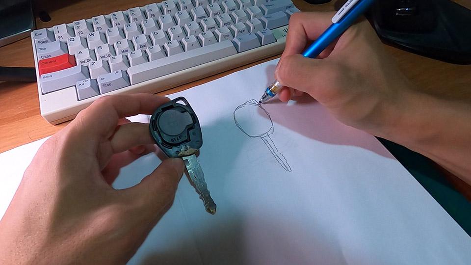 手書き設計図