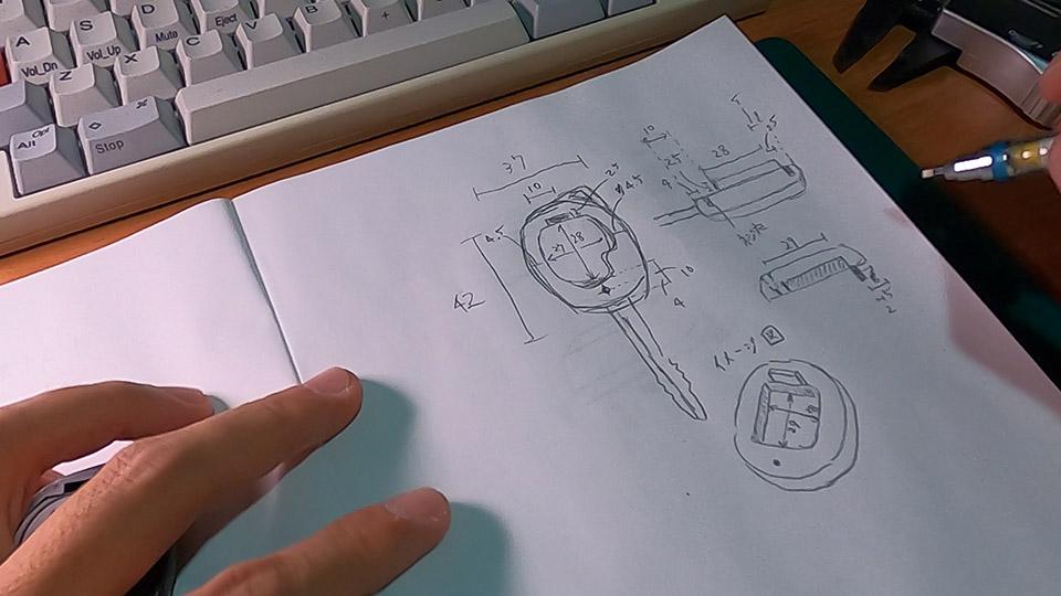 手書き設計図完成