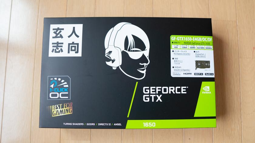 玄人志向 NVIDIA GeForce GTX1650 4GB